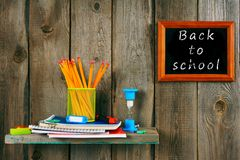 Writing-books and school tools. Stock Images