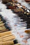 Writing brush-chinese calligraphy tools. Writing brush,chinese calligraphy tools Stock Photos