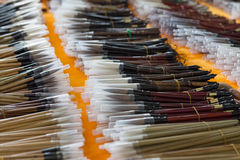 Writing brush-chinese calligraphy tools.  Stock Photography