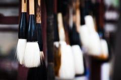 Writing brush. Various types of Chinese brush Stock Photos