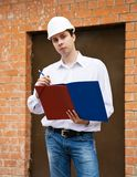 Writing builder Royalty Free Stock Photo