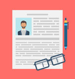 Writing a Business CV Resume Concept Royalty Free Stock Image