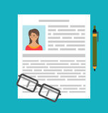 Writing a Business CV Resume Stock Photos