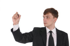 Writing the business man  Stock Images