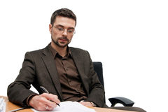 Writing Businessman Stock Photos