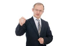 The writing businessman isolated Royalty Free Stock Image