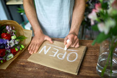 Writing with chalk stock photos