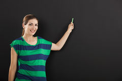 Writing on a chalkboard Stock Photos