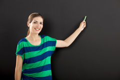Writing on a chalkboard Royalty Free Stock Images