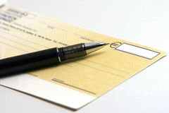 Writing check Royalty Free Stock Photos