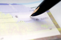 Writing Checks Royalty Free Stock Photos