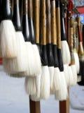 Writing chińscy brushs Zdjęcia Royalty Free