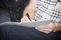 Writing close up Royalty Free Stock Photo