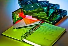 Writing computer Royalty Free Stock Photos