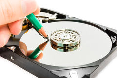 Writing data to harddisk Royalty Free Stock Image