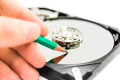 Writing data to harddisk Stock Photography