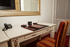 Writing desk. A writing desk in a hotel room Royalty Free Stock Image