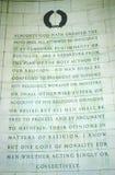 Writing Detail at Jefferson Memorial, Washington, D.C. Royalty Free Stock Photography