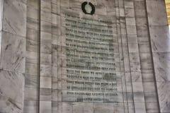 Writing Detail at Jefferson Memorial Royalty Free Stock Image