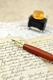 Writing a Diary Stock Image