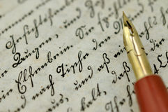 Writing a Diary Royalty Free Stock Image