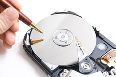 Writing disk Royalty Free Stock Image