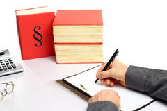 Writing on document Stock Image