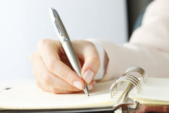 Writing Documents Stock Image