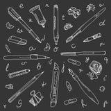 Writing doodles Royalty Free Stock Photo