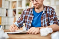 Writing down ideas Stock Photography