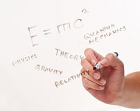 Writing Down Scientific Words Stock Image