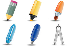 Writing and Drawing icon stock illustration