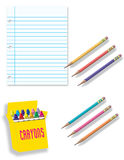Writing and Drawing Supplies stock photography