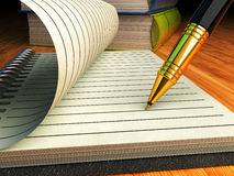 Writing and education, signing contract or agreement business concept Royalty Free Stock Images
