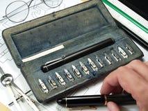 writing equipment Stock Photos