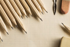 Writing equipments Royalty Free Stock Photos