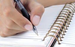 writing för bokhand Arkivfoton