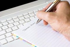 writing för handplanlopp Royaltyfria Foton