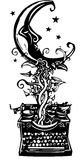 Writing Fantasy Moon Royalty Free Stock Images