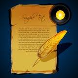 Writing feather Royalty Free Stock Photos