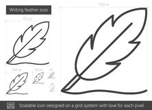 Writing feather line icon. Royalty Free Stock Photography