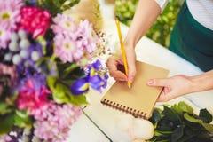 Writing flower names Stock Photos