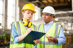 Writing after foreman Stock Photo