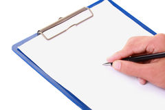 Writing form Royalty Free Stock Image