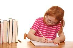 Writing girl Royalty Free Stock Photos
