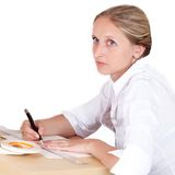 The writing girl Royalty Free Stock Image
