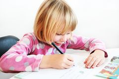 Writing girl Royalty Free Stock Photography