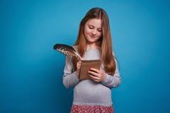 Writing girl Royalty Free Stock Photo