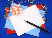 Writing a greeting card Stock Photography