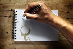 Writing on the grunge paper. Royalty Free Stock Photo